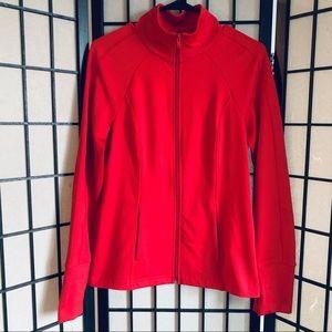 Z By Zella red full zip athletic jacket sz M